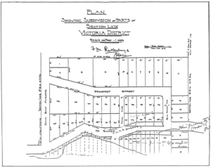 Subdivision and Plan from Francis M Rattenbury circa 1898