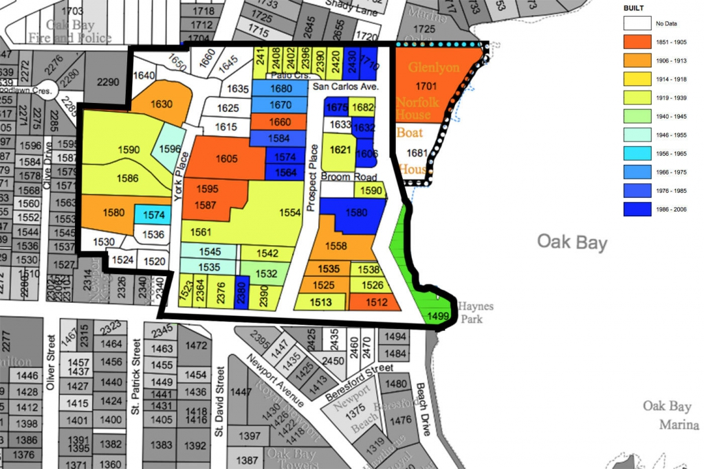 Oak Bay Heritage Conservation Area Proposed Boundaries